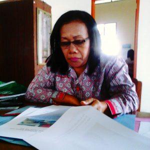 Foto: Dra. Sumawarni Purba. Ka. UPTD Dolok Panribuan